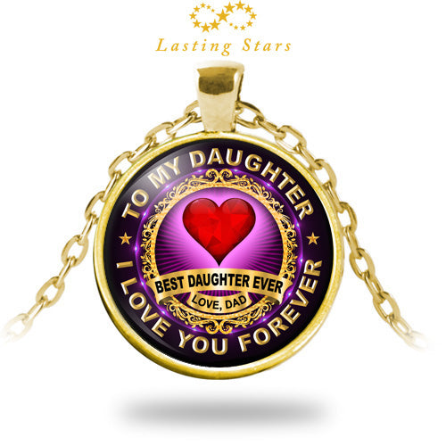 05078c5ad4f23 To My Daughter Necklace Best Daughter Ever I Love You Forever Gift from Dad