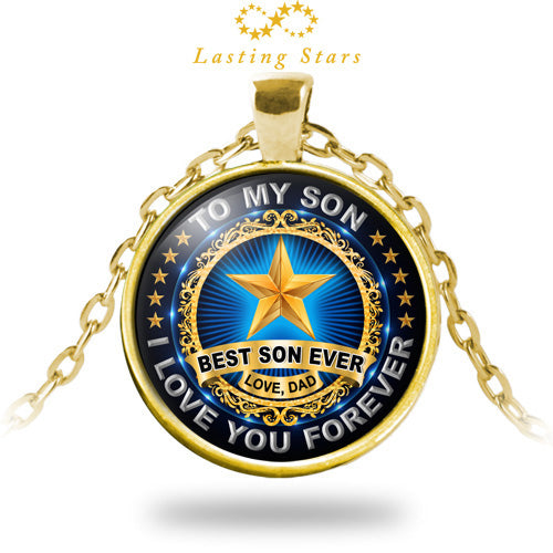 To My Son Necklace Best Ever I Love You Forever Birthday Gift From Dad
