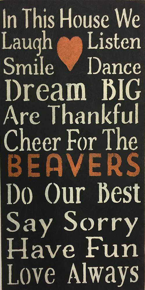 "12"" x 24"" Cheer for the Beavers"