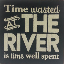 "12"" x 12"" Time Wasted at the River"