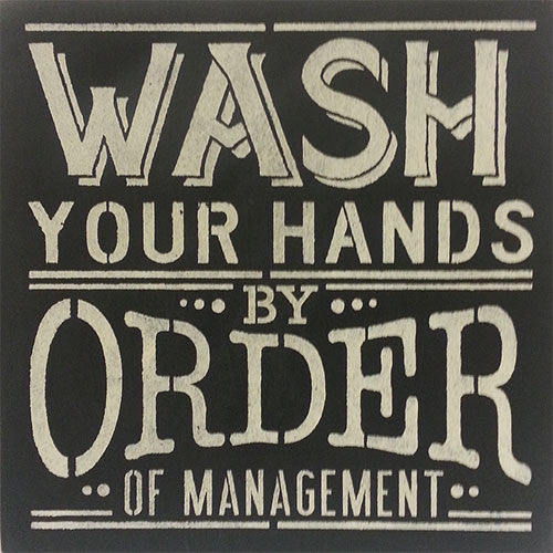 "12"" x 12"" Wash Your Hands"