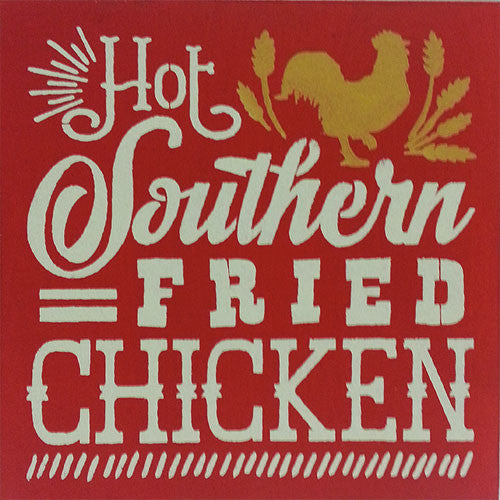 "12"" x 12"" Hot Southern Fried Chicken"