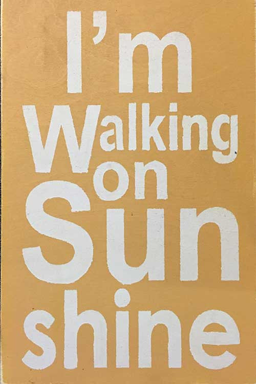 "12"" x 18"" I'm Walking on Sunshine"