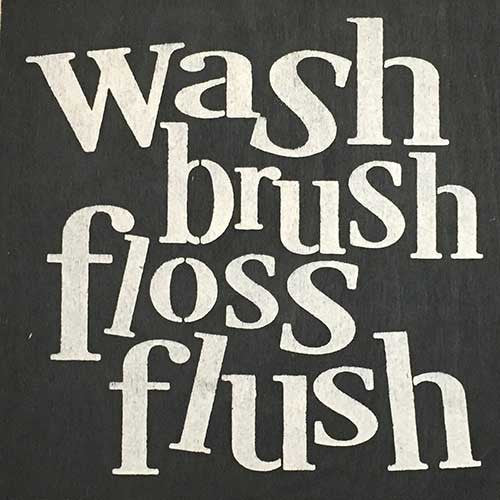 "12"" x 12"" Wash Brush Floss Flush"