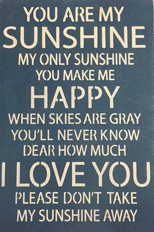 View You Are My Sunshine Crafter Files