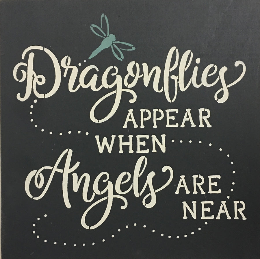 "12"" x 12"" Dragonflies Appear When Angels Are Near"