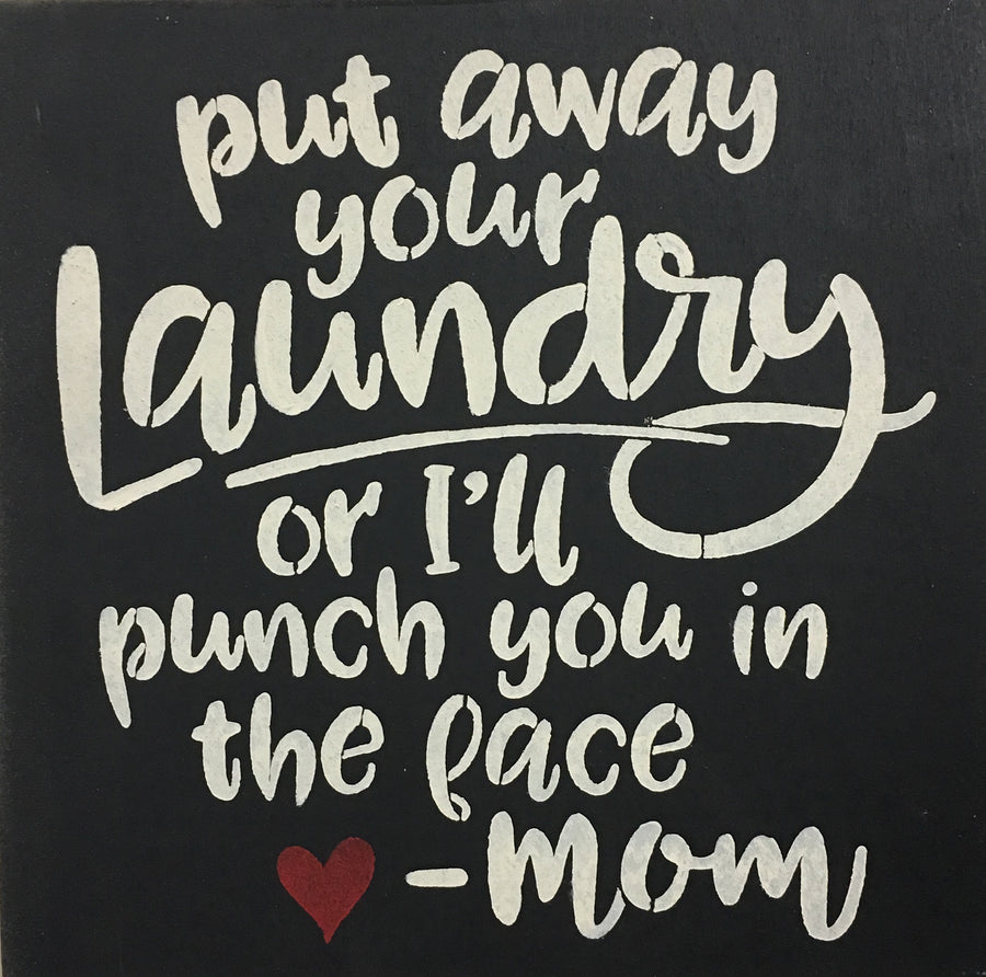 "12"" x 12"" Put Away Your Laundry"