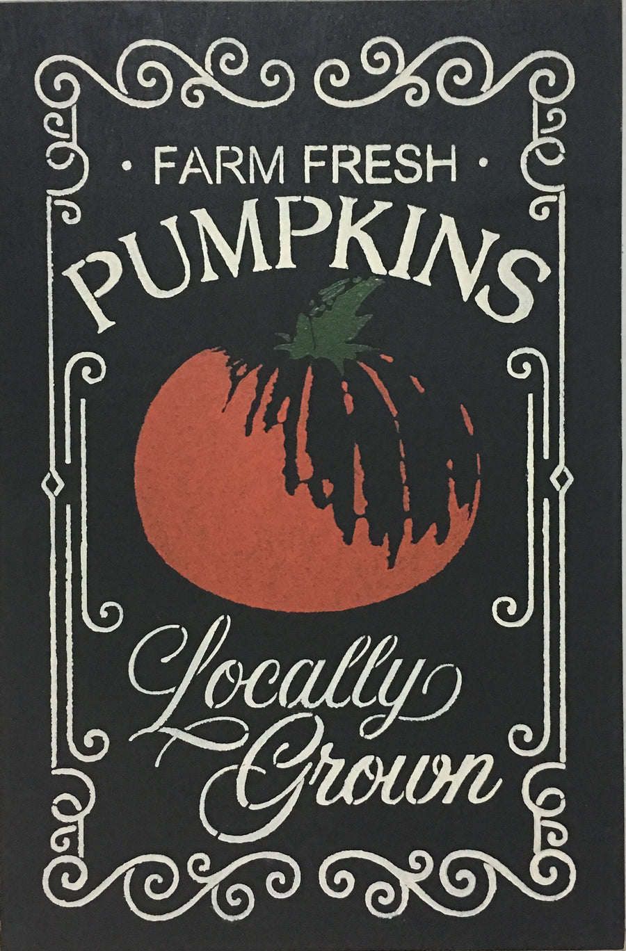 "12"" x 18""  Farm Fresh Pumpkins"