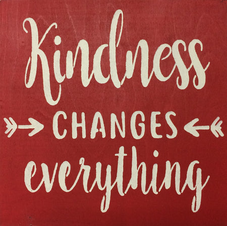 "12"" x 12"" Kindness Changes Everything"