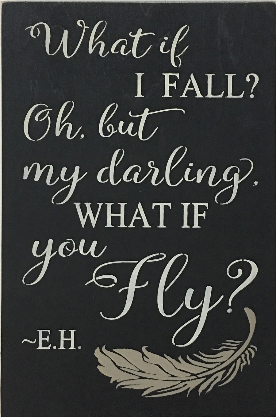 "12"" x 18"" What If I Fall?"
