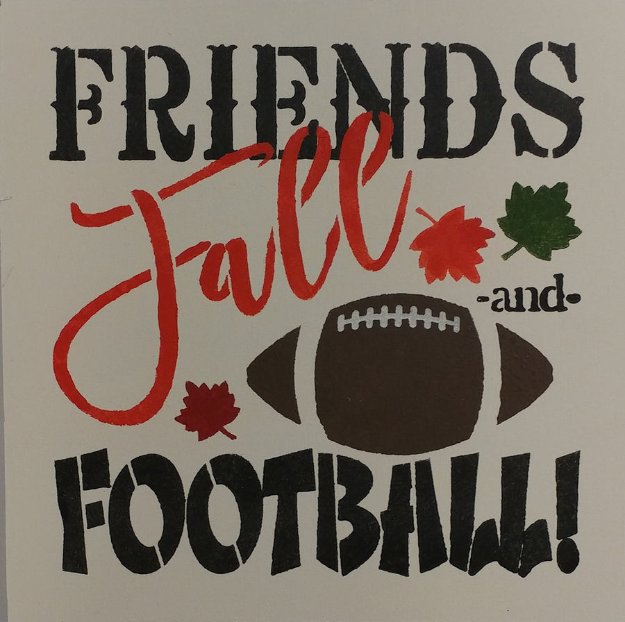 "12"" x 12"" Friends, Fall, & Football"
