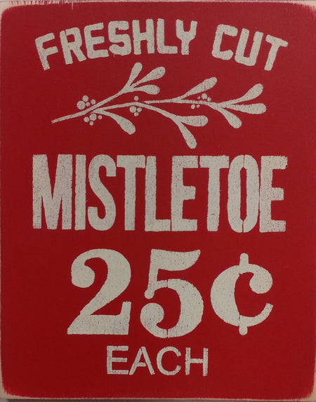"8"" x 12"" Freshly Cut Mistletoe"
