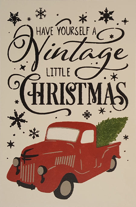 "12"" x 18"" Have Yourself A Vintage Little Christmas"