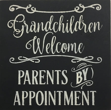 "12"" x 12"" Grandchildren Welcome"
