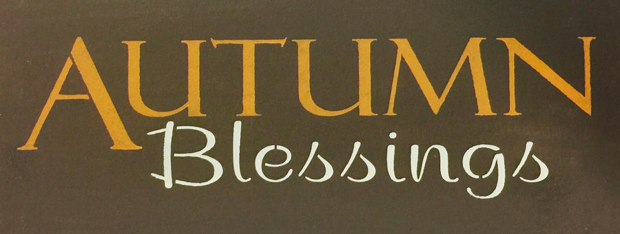 "8"" x 24"" Autumn Blessings"
