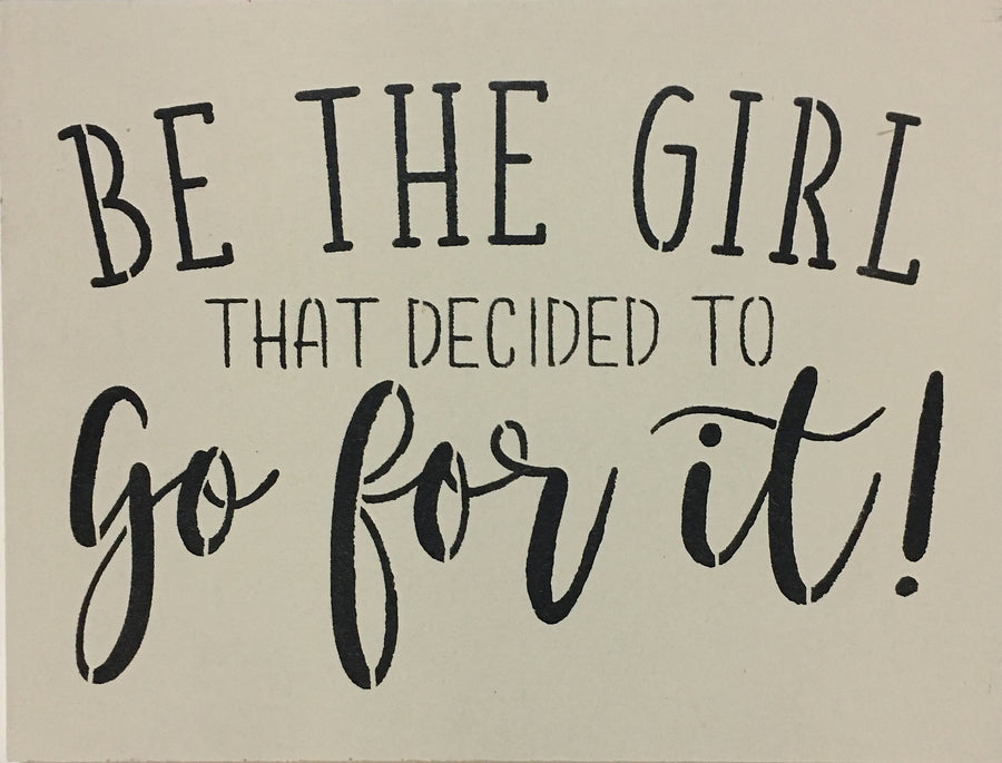 "12"" x 16"" Be The Girl"