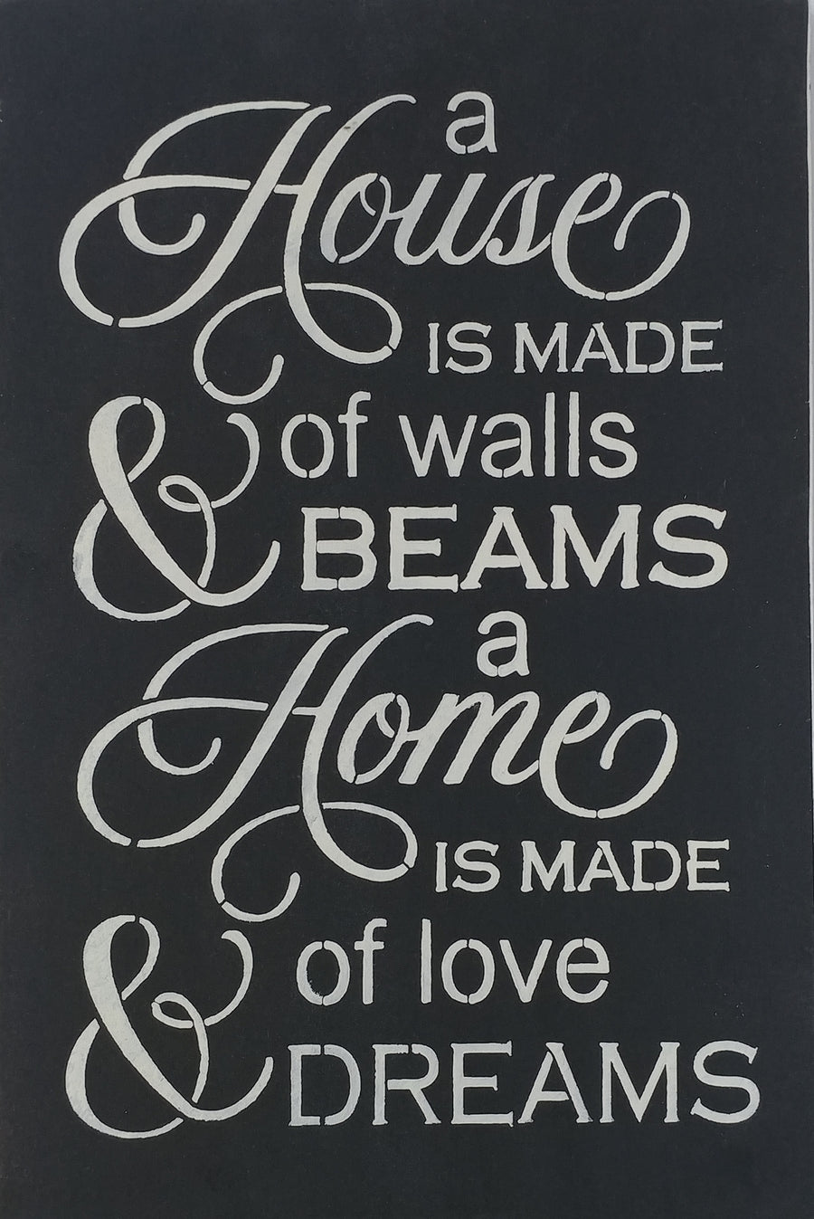 "12"" x 18"" A Home Is Built"
