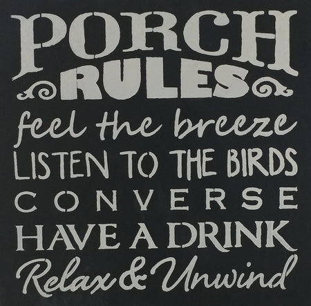"12"" x 12"" Porch Rules"