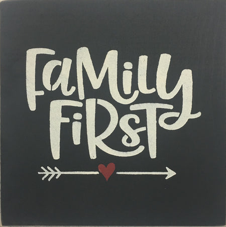 "12"" x 12"" Family First"