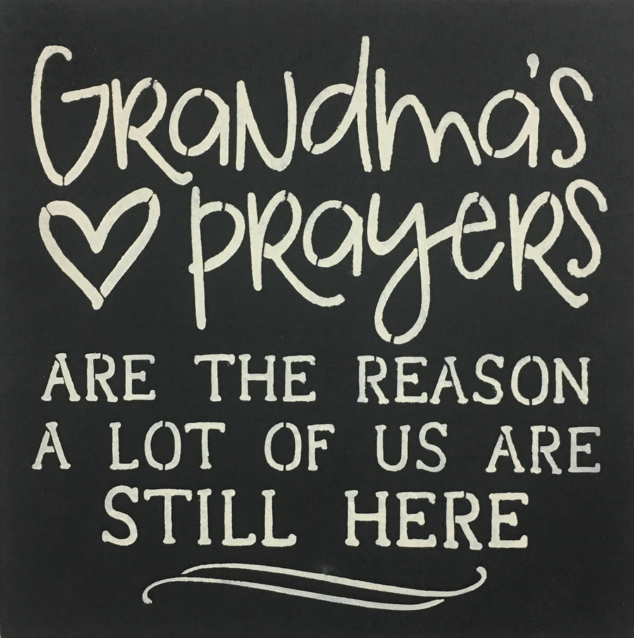 "12"" x 12"" Grandma's Prayer"