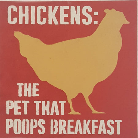 "12"" x 12"" Chickens The Pet That Poops Breakfast"