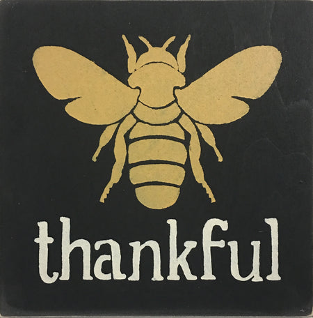 "12"" x 12"" Bee Thankful"