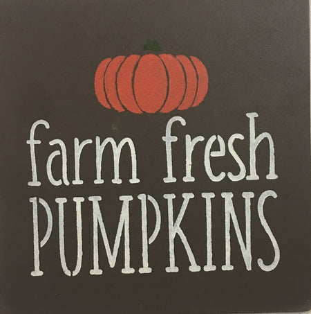 "12"" x 12"" Farm Fresh Pumpkins"