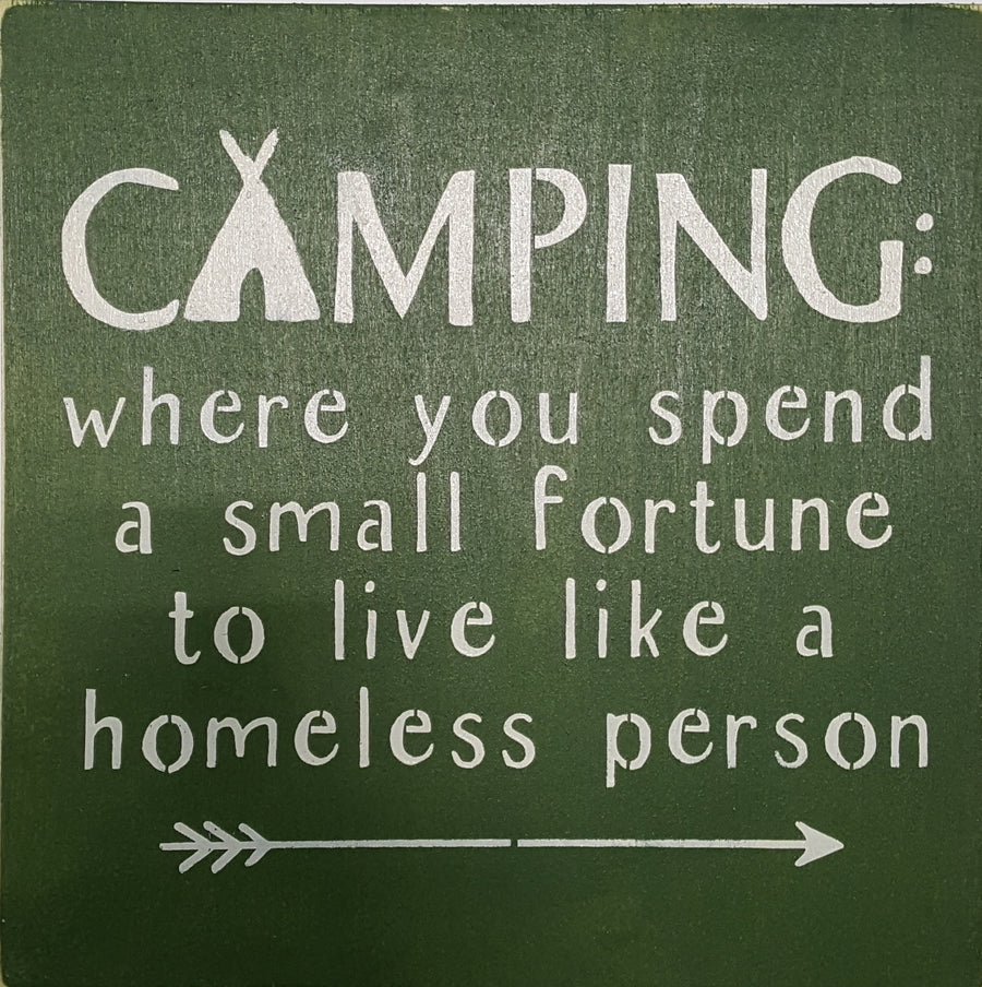 "12"" x 12"" Camping: Where You Spend A Small Fortune"