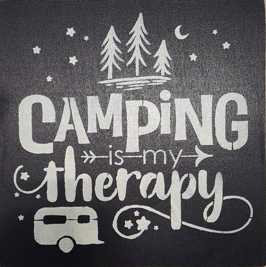 "12"" x 12"" Camping Is My Therapy"