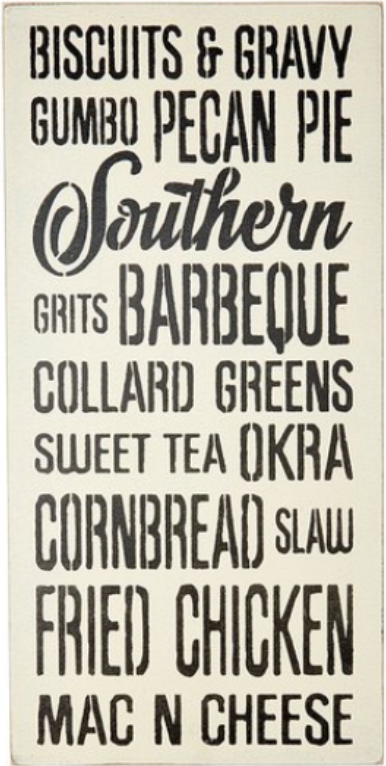 "12"" x 24"" Southern Food Favorites"