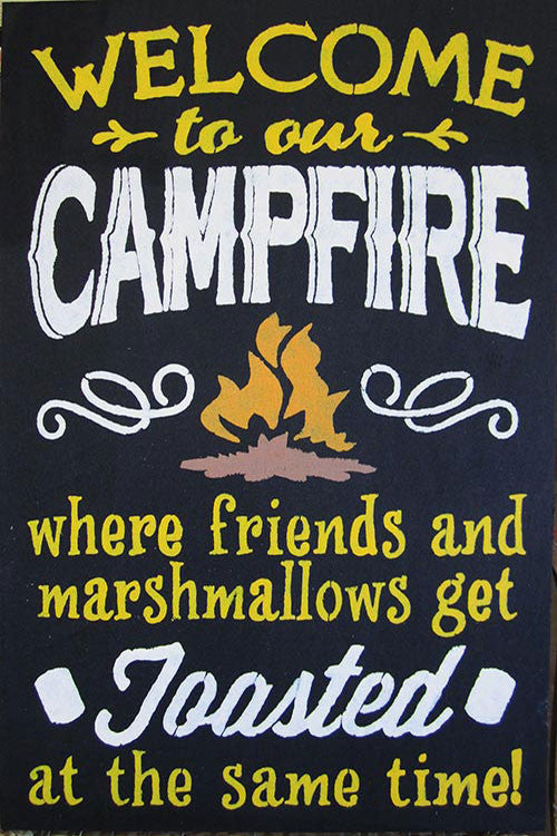 "12"" x 18"" Welcome to Our Campfire..."