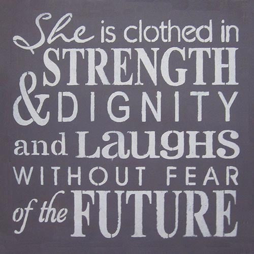 "12"" x 12"" She is Clothed in Strength..."