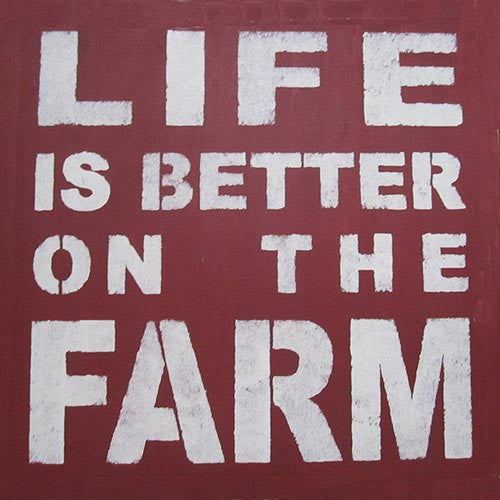 "16"" x 16"" Life is Better on the Farm"