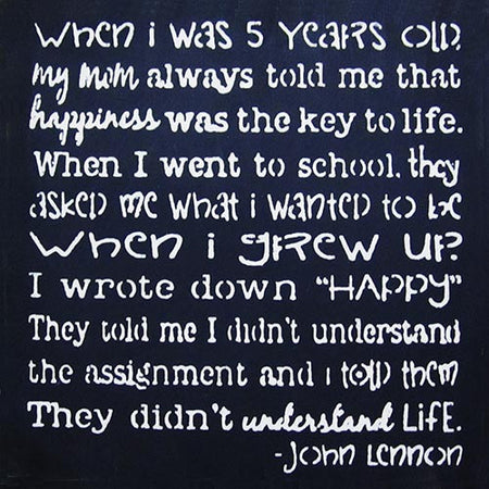 "12"" x 12"" When I was 5 Years Old...John Lennon"