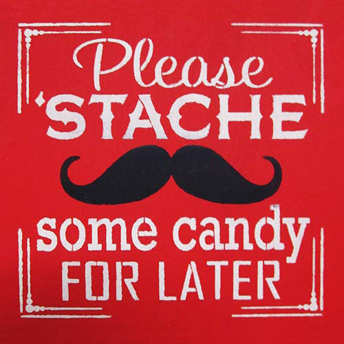 "12"" x 12"" Please Stache Some Candy..."