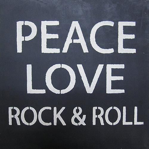 "12"" x 12"" Peace, Love, Rock & Roll"