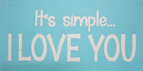 "6"" x 12"" It's Simple....I Love You"