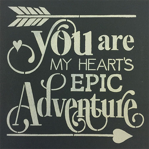 "12"" x 12"" You Are My Heart's Epic Adventure"