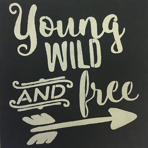 "12"" x 12"" Young Wild and Free"