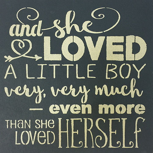 "12"" x 12"" And She Loved a Little Boy #2"