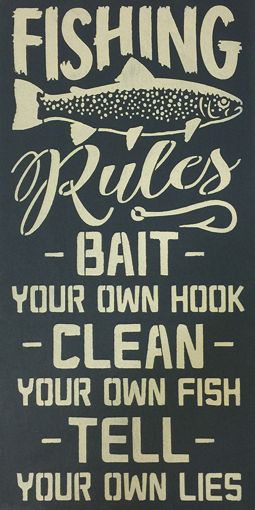 "12"" x 24"" Fishing Rules..."