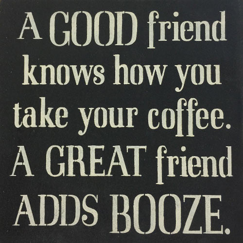 "12"" x 12"" A Good Friend Knows How You Take Your Coffee"