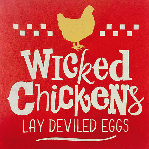 "12"" x 12"" Wicked Chickens Lay Deviled Eggs"