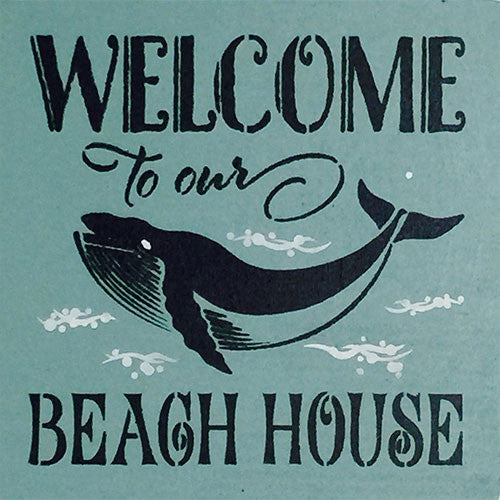 "12"" x 12"" Welcome to Our Beach House"
