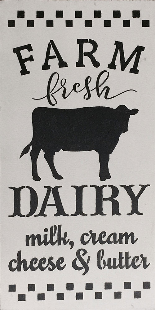 "12"" x 24"" Farm Fresh Dairy"