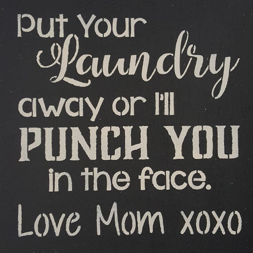 "12"" x 12"" Put Your Laundry Away"