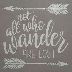 "12"" x 12"" Not All Who Wander Are Lost"