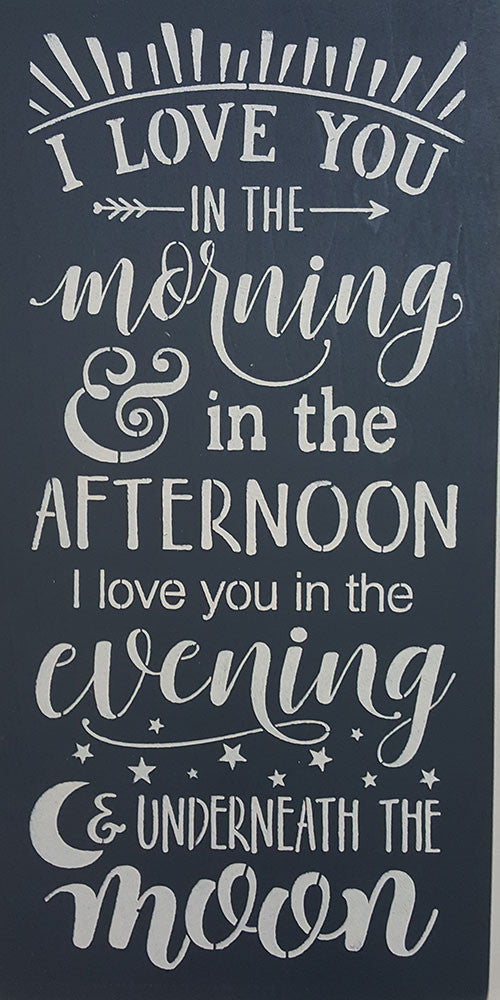 "12"" x 24"" I Love You in the Morning"