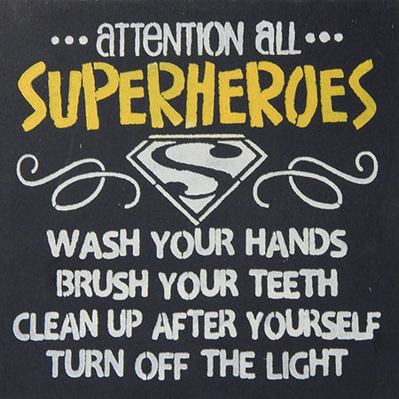 "12"" x 12"" Attention All Superheroes..."