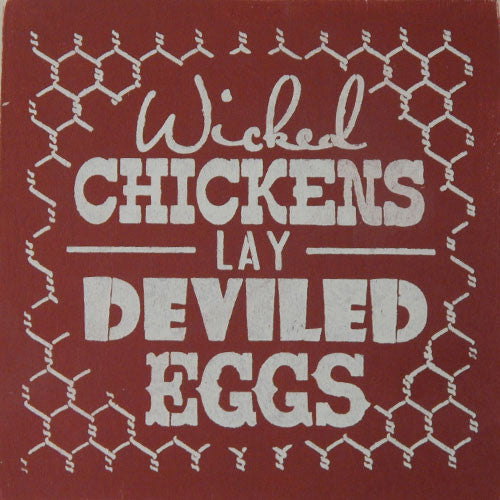 "12"" x 12"" Wicked Chickens Make Deviled Eggs"
